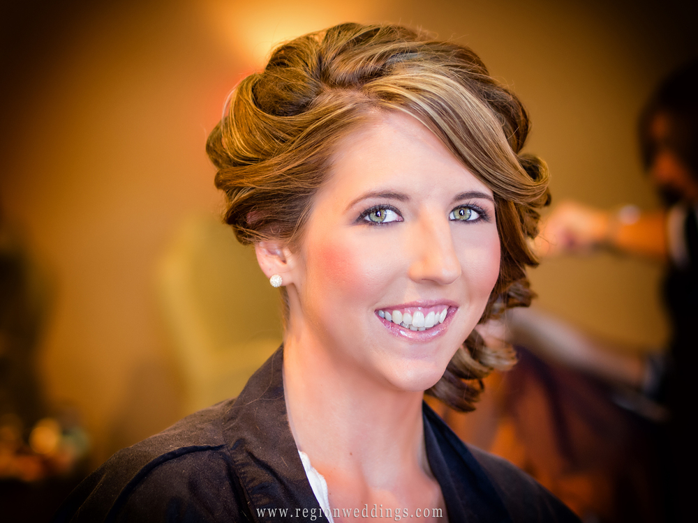 Bridal portrait at the color room Salon and Day Spa.