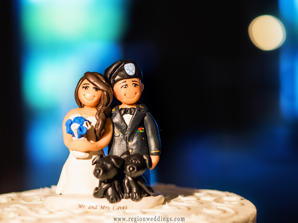 Military wedding cake topper.