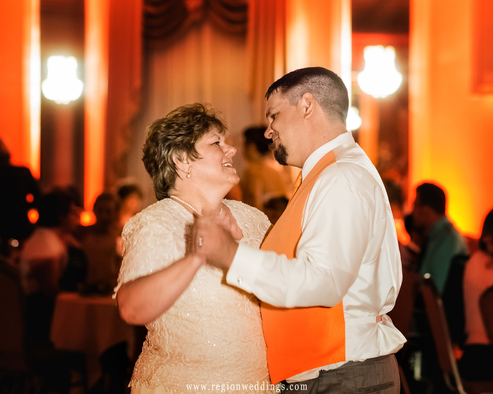 Mother and son dance at Macedonian Hall.