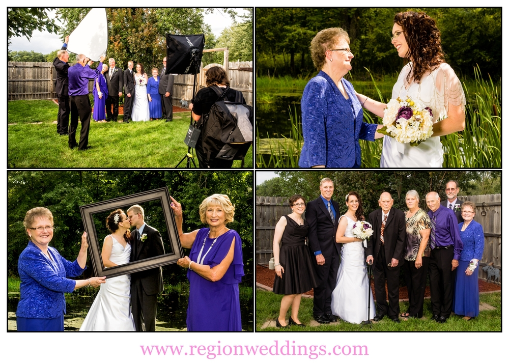 Family wedding photo collage.