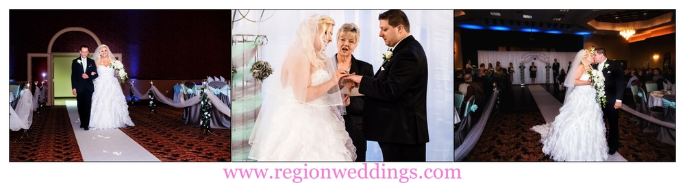 Wedding ceremony at St. Elijah Serbian American Hall in Crown Point, Indiana.