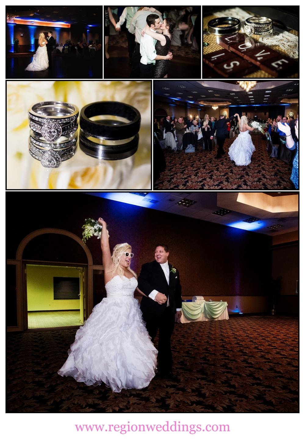 Wedding reception at St. Elijah Serbian American Hall.