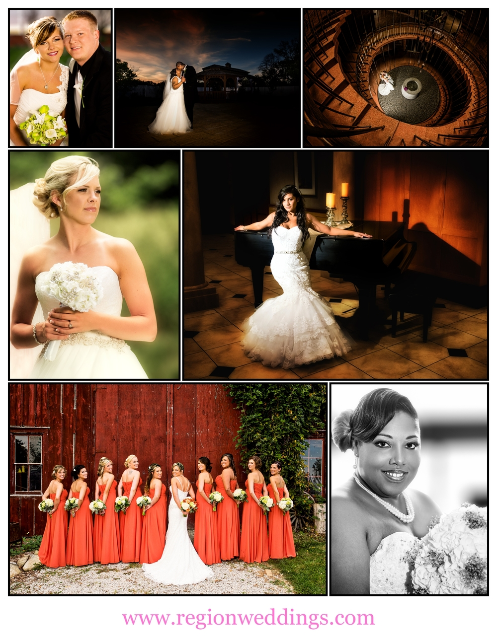 A collection of images from Northwest Indiana wedding photographer Steve Vansak of Region Weddings.