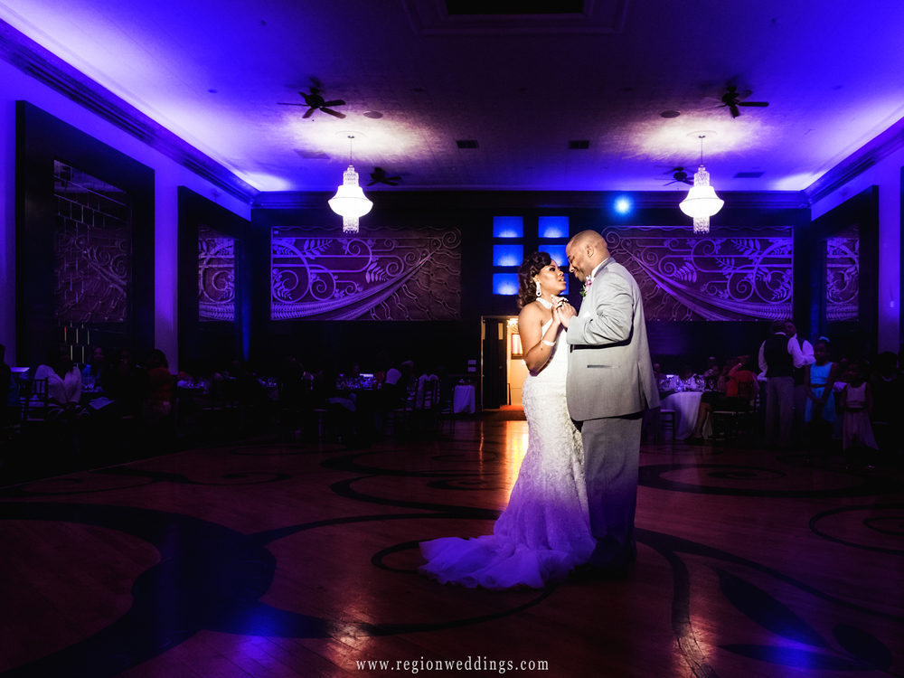 First dance for the bride and groom at The Allure in Laporte, Indiana.