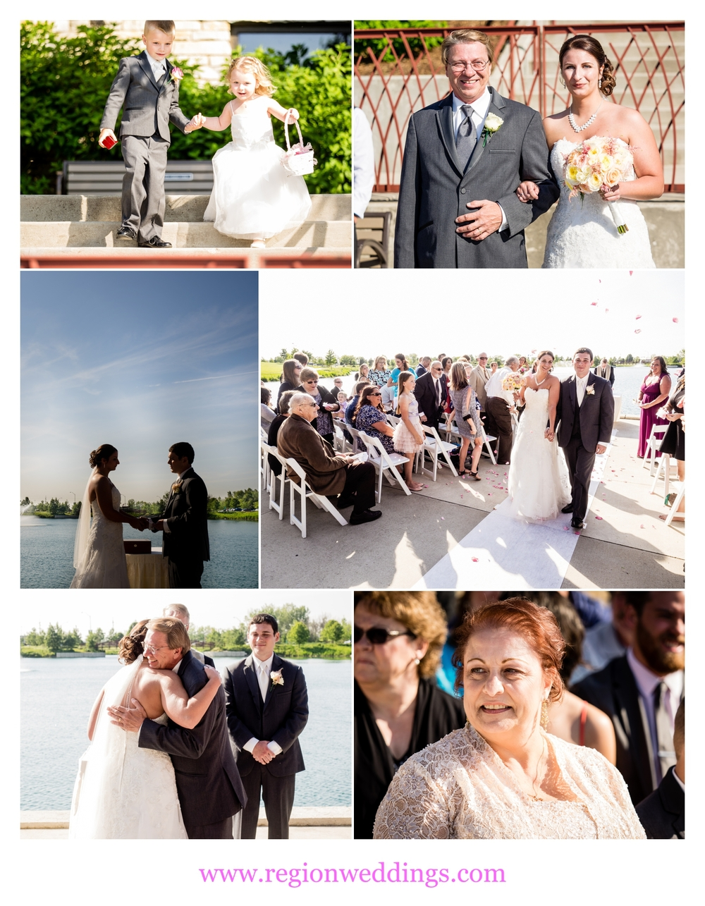 Summer wedding at Centennial Park.