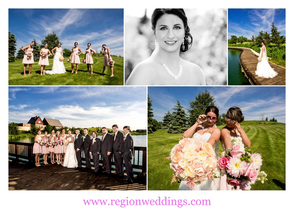 Wedding photo collage from Centennial Park in Munster, IN.