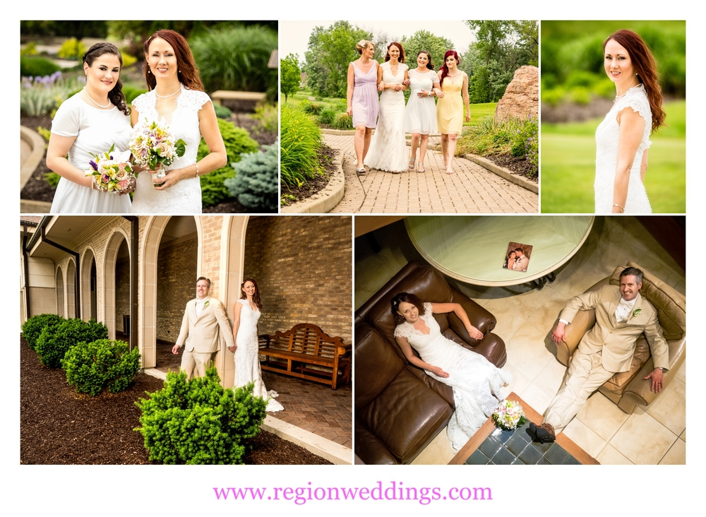 Wedding photo collage at Sand Creek Golf Course in Chesterton, Indiana.