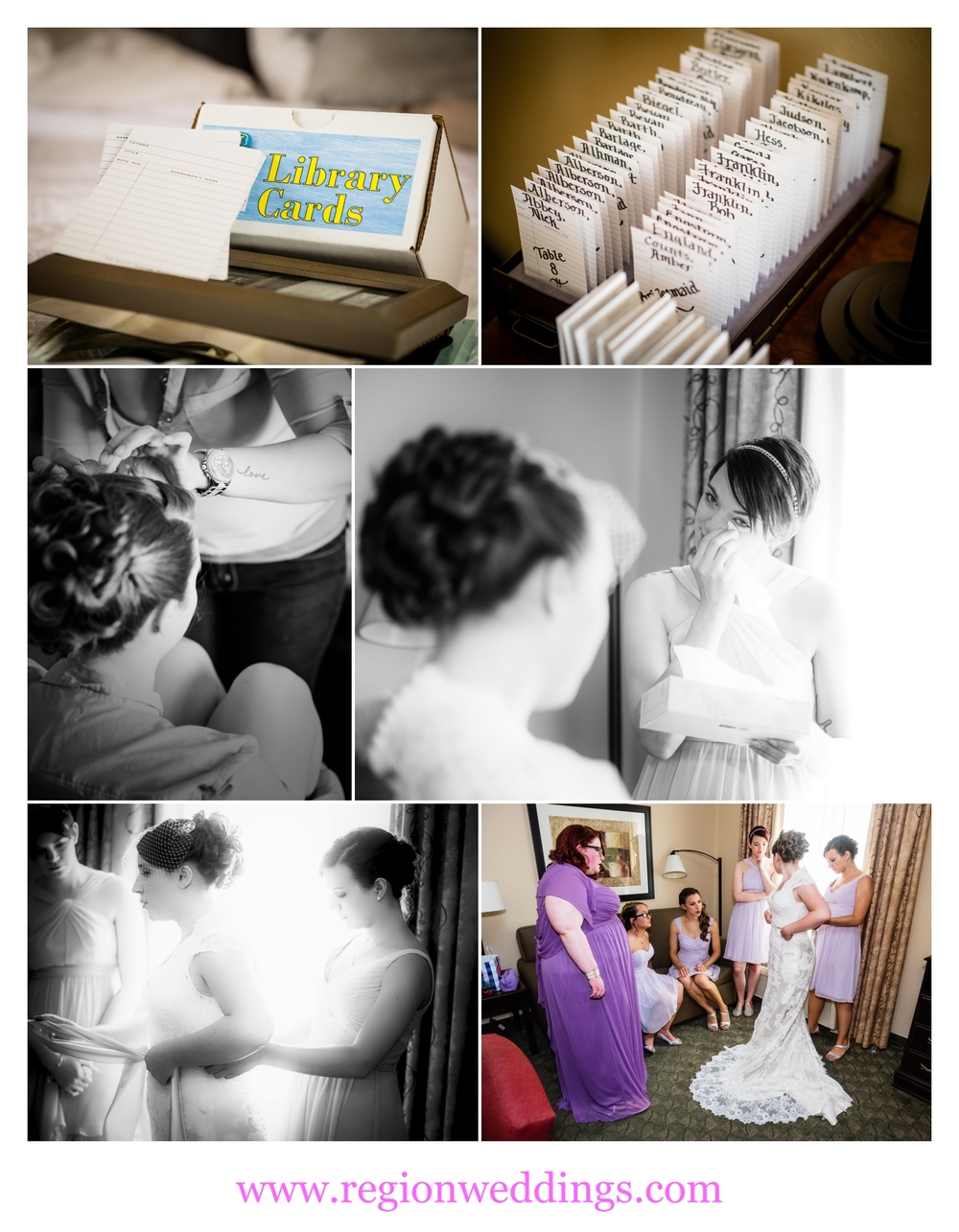 Bridesmaids get ready at Hampton Inn.