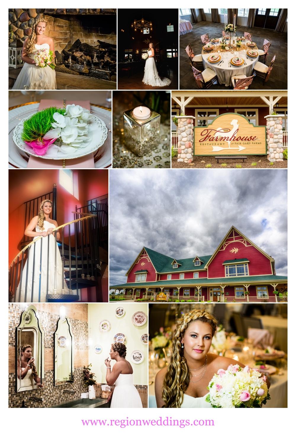 Weddings at Farmhouse Restaurant at Fair Oaks Farms.