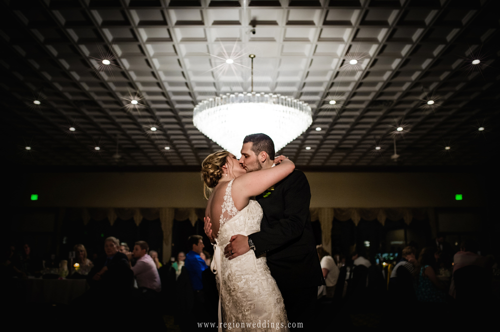 First dance for the bride and groom at The Croatian Center in Merrillville, IN.
