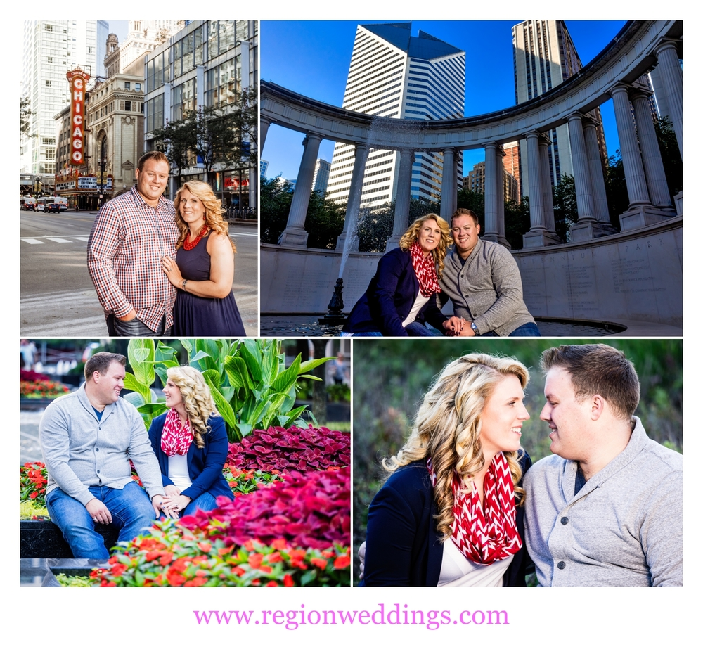 Engagement photos in downtown Chicago.
