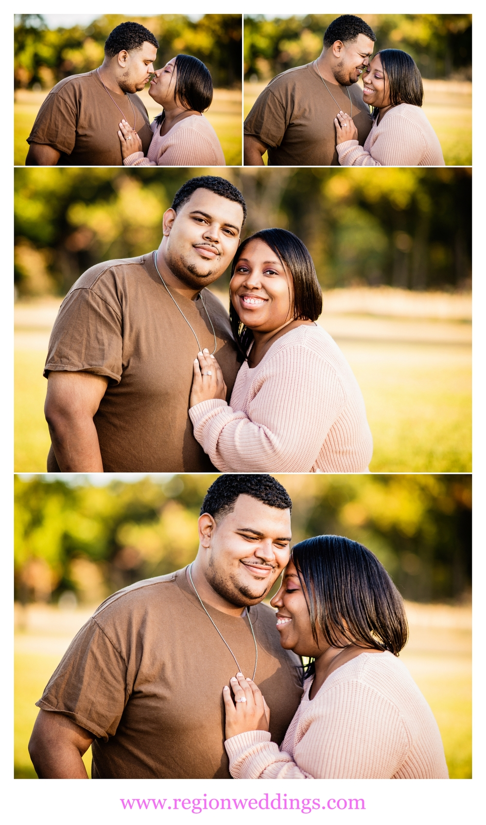 A couple in love share a few laughs at their Anniversary Photo Session.