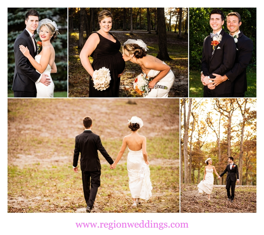 fall wedding at st marys church in crown point indiana