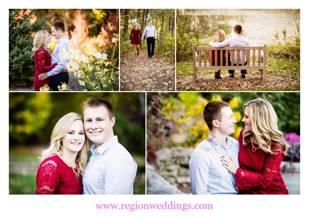 Engagement photos at Taltree Arboretum in Valparaiso, Indiana.
