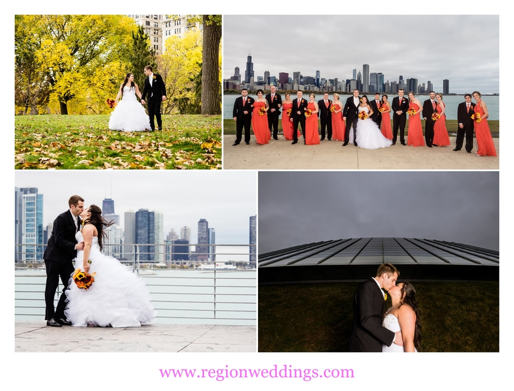Wedding photos in Chicago, Illinois.