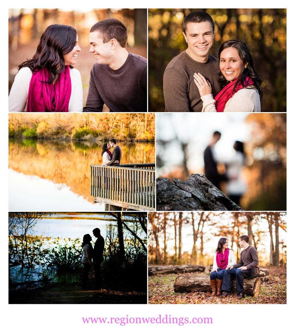 Autumn engagement photos at Lemon Lake County Park.