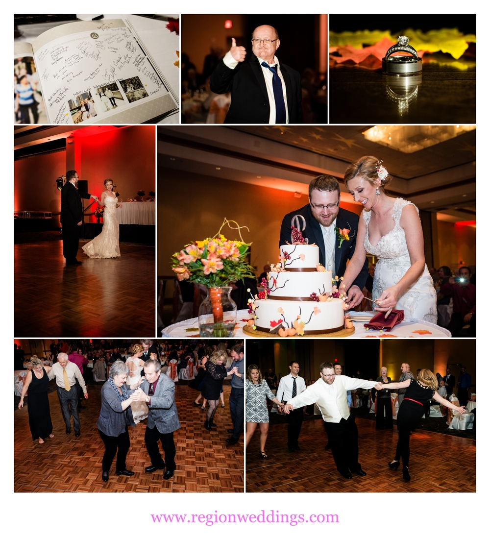 Fall wedding celebration at Radisson.
