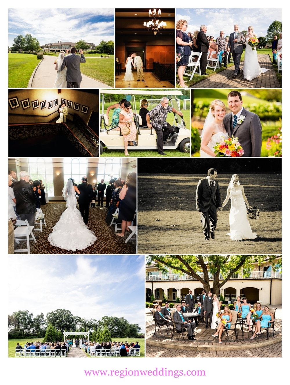 Wedding photos from Sand Creek Country Club.