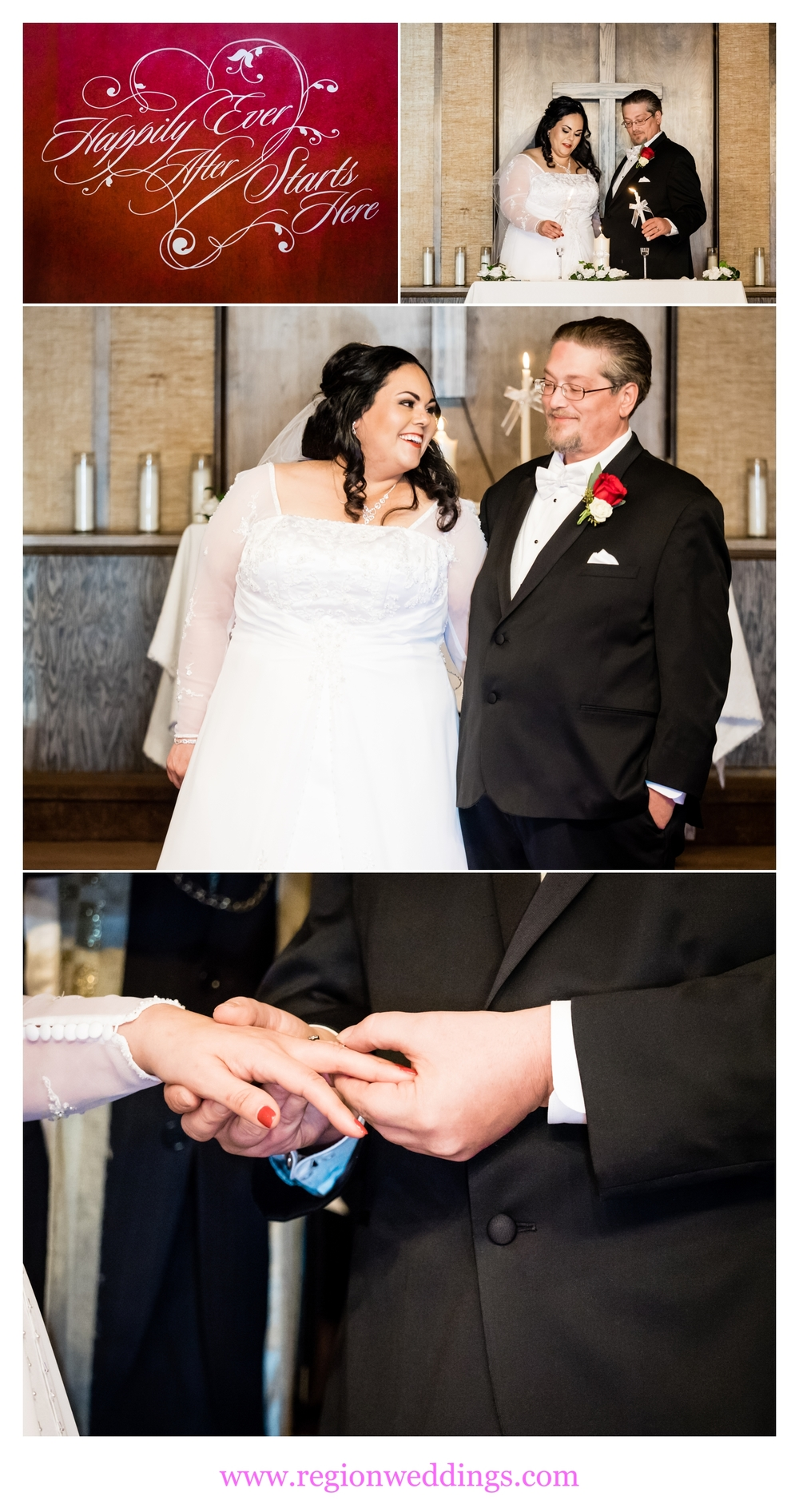 Wedding ceremony at Free Spirit Church.