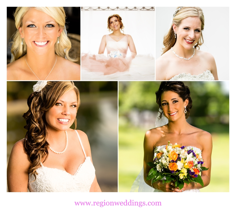Collection of bridal clients of make up artist Krissy V.