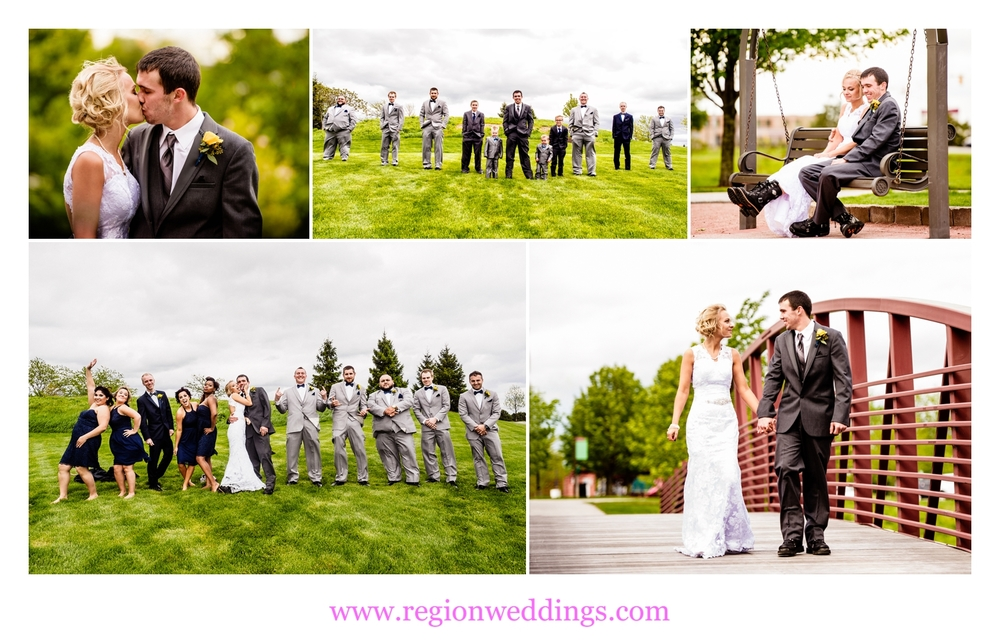 Wedding photo collage at Centennial Park.