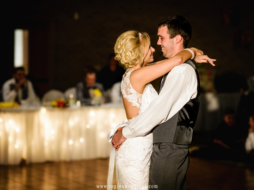 First dance for the bride and groom at Casa Maria Banquet Hall.