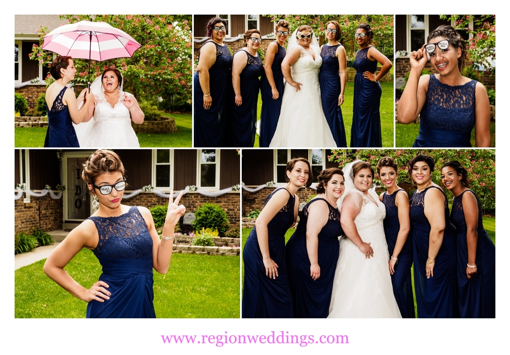 Fun bridesmaids photos before the ceremony.