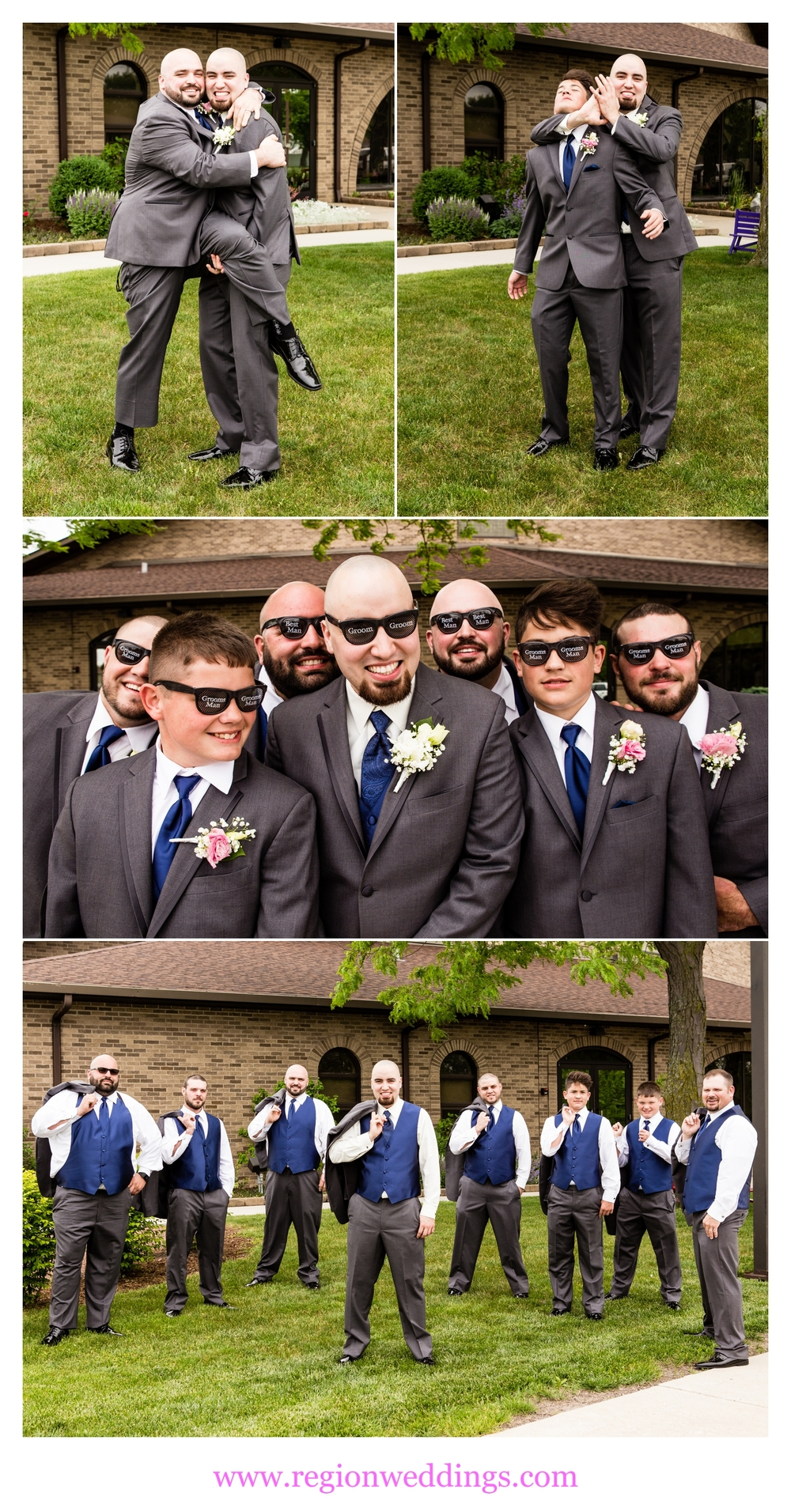 Fun groomsmen photos before the ceremony.