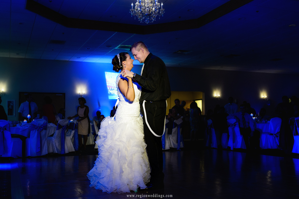 First dance at The Patrician during a June wedding.