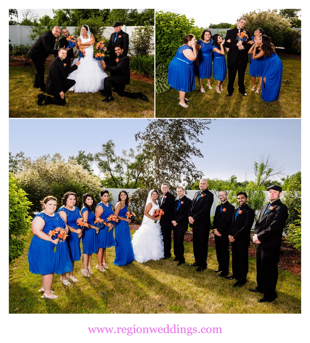 Wedding party photos at The Patrician Banquet Center.