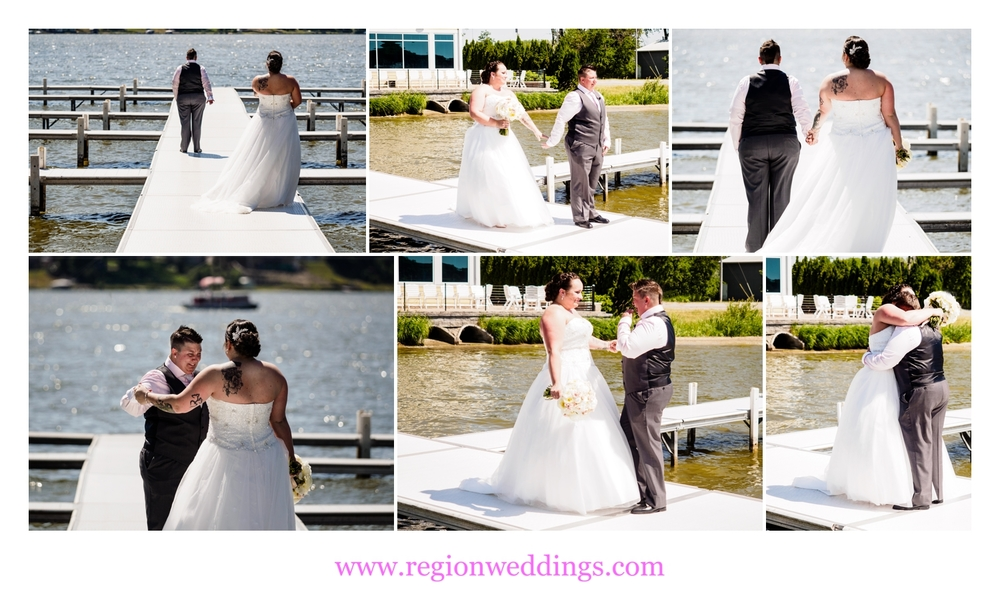 First look for the soon to married couple on the pier at Lighthouse Restaurant.