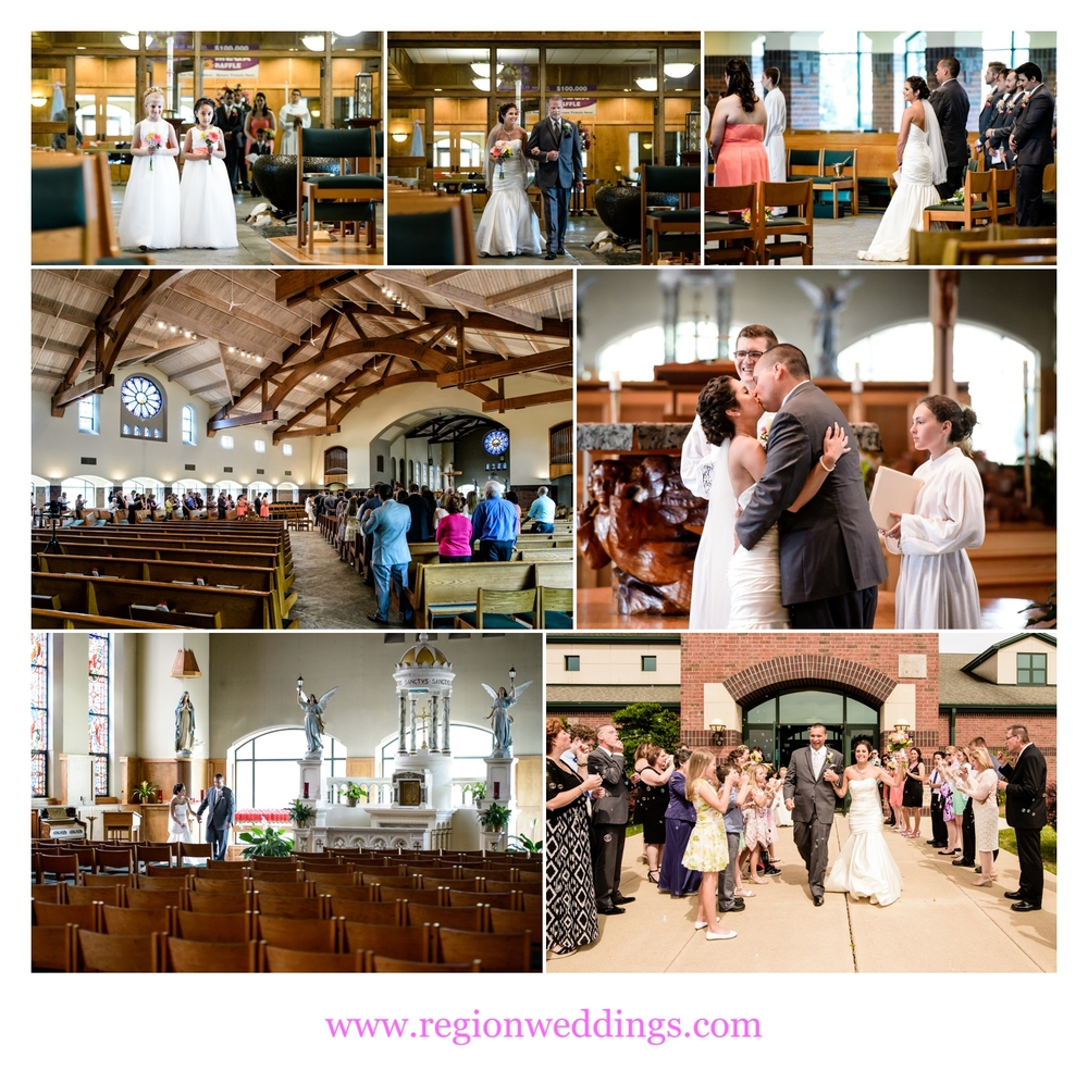Wedding ceremony at St. Michael's Parish in Schererville, Indiana.