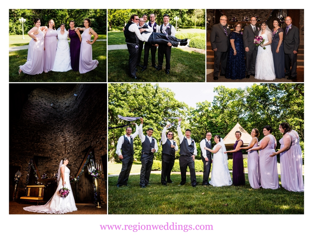 june wedding at first christian church in crown point in