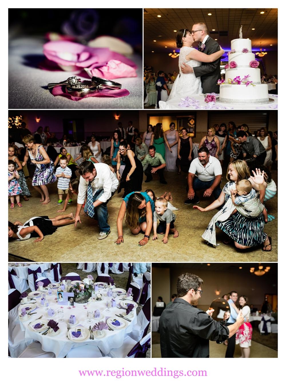 Wedding reception at Andorra Banquet Hall in Schererville, Indiana.