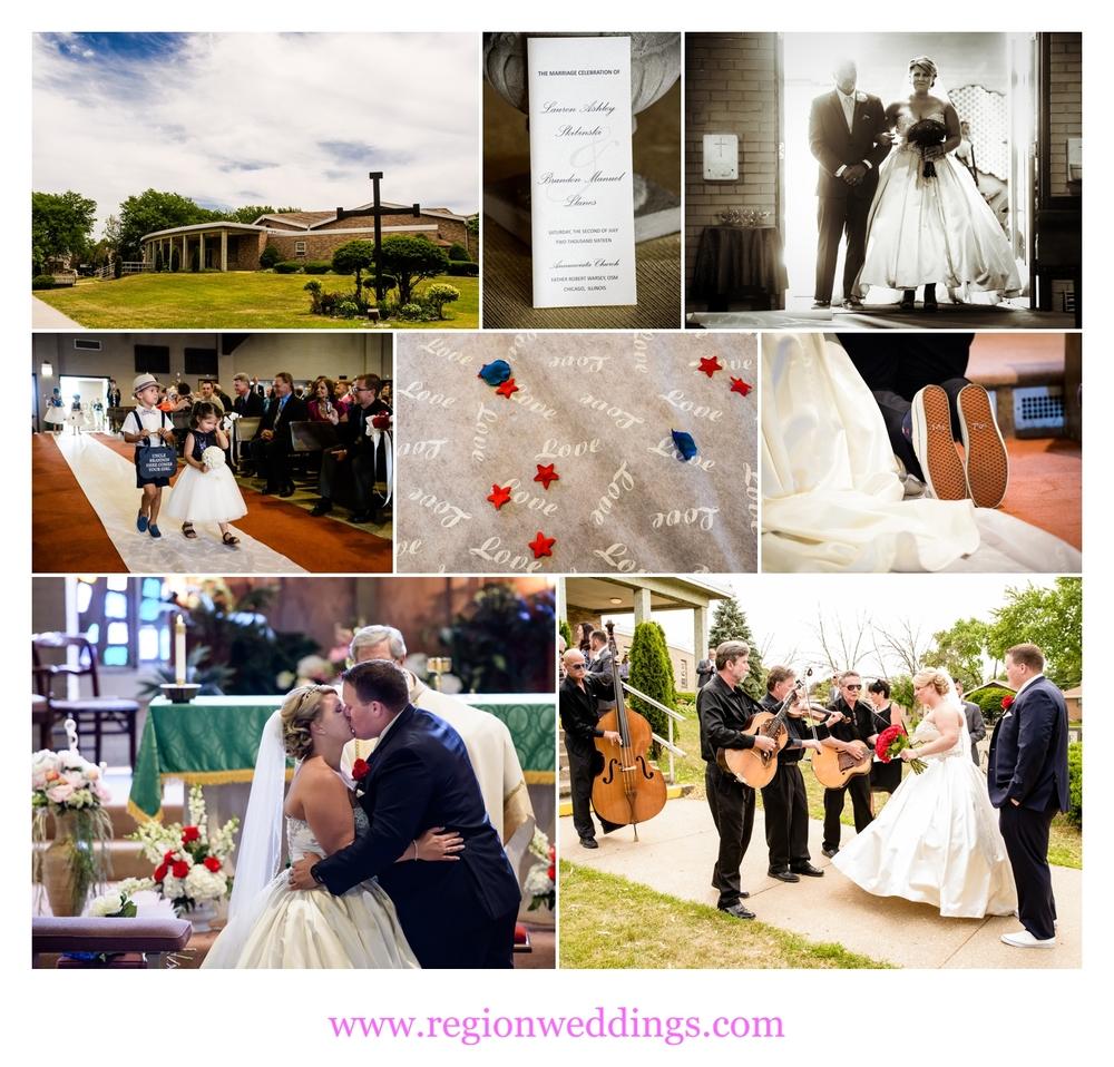 Wedding Ceremony At Annunciata Church In Chicago