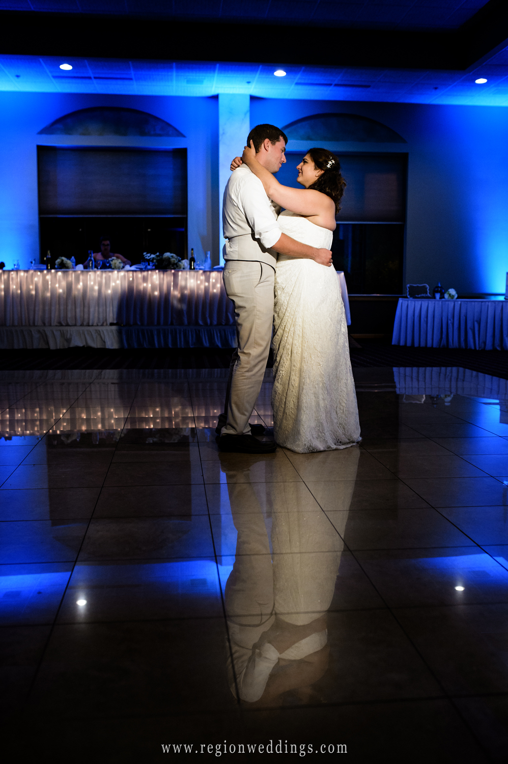 First dance at Villa Cesare in Schererville, Indiana.