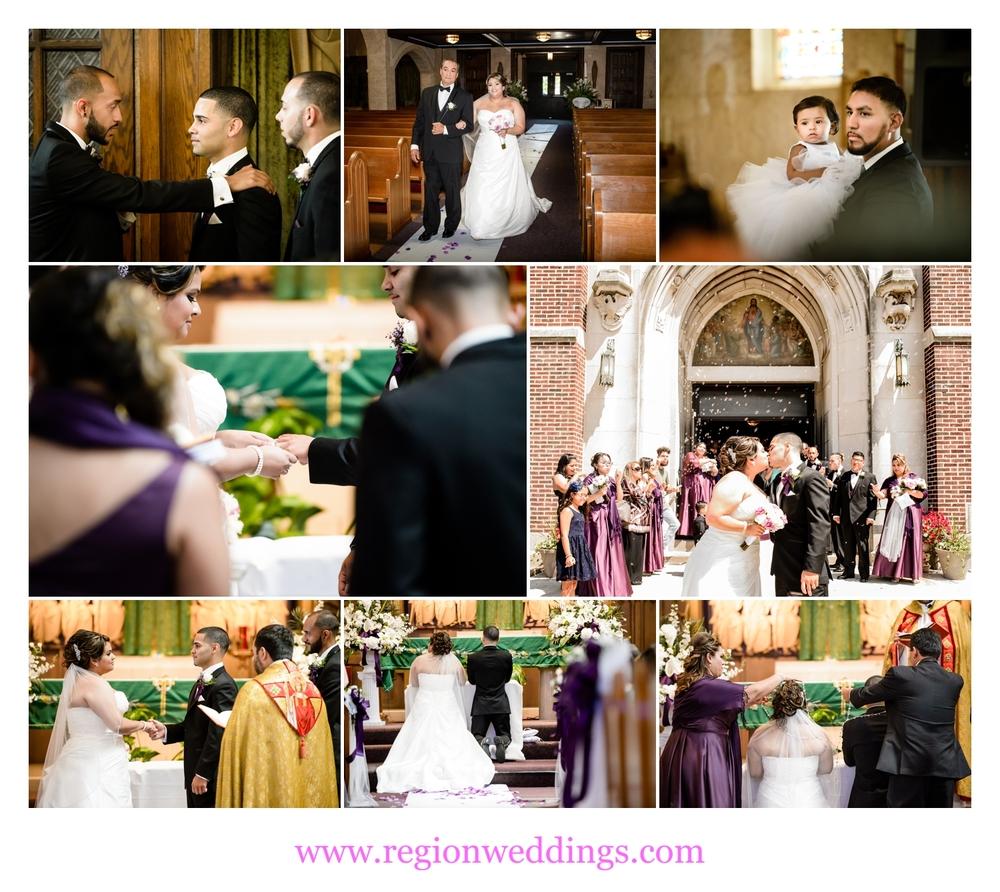 Catholic wedding ceremony at St. Casimir Church in Hammond, Indiana.