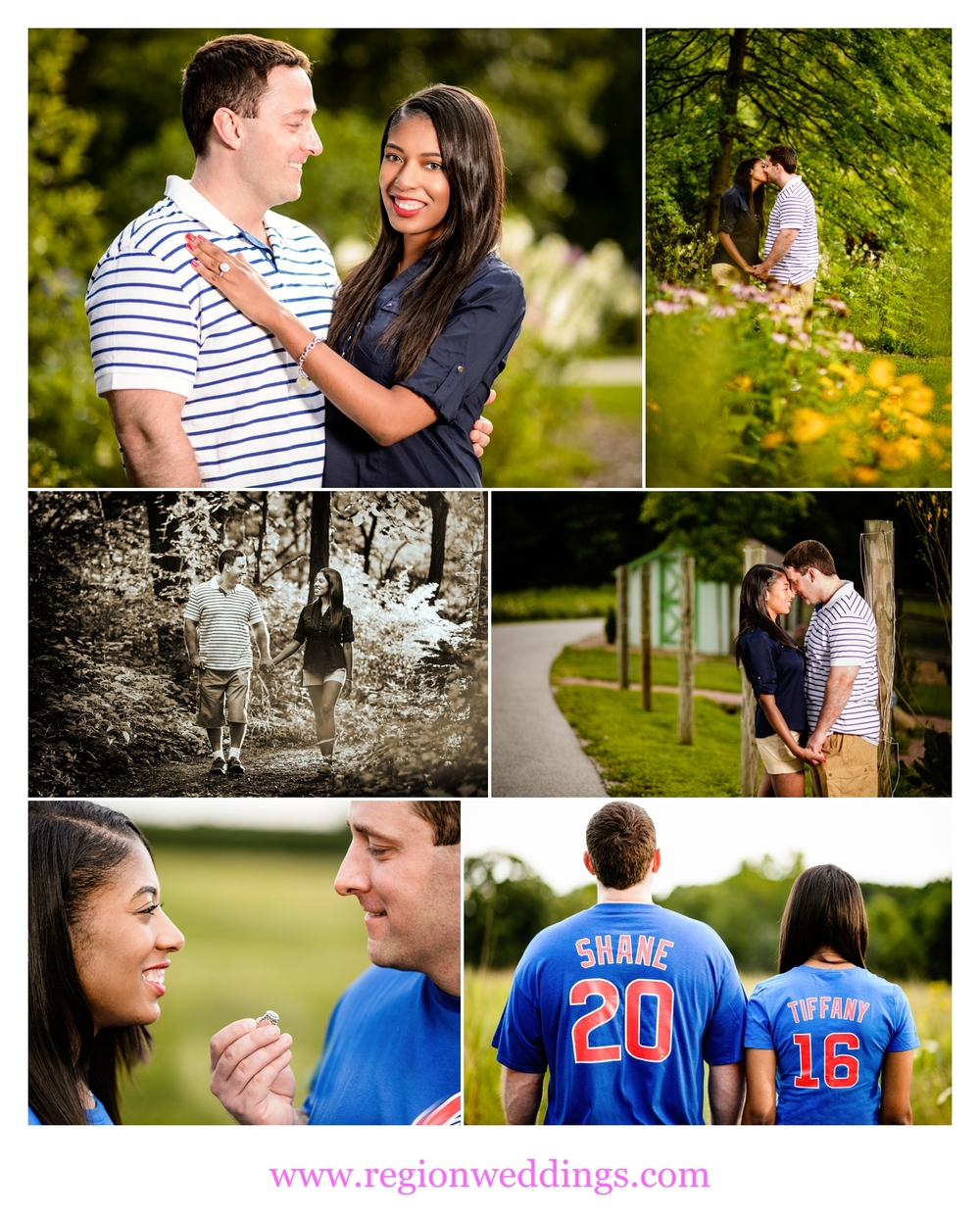 Cute engagement photos at Taltree Arboretum in Valparaiso, Indiana.