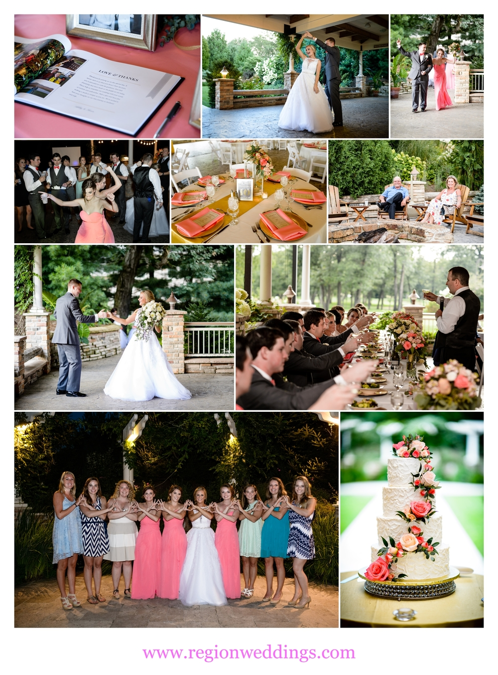 wedding reception at the pavilion at sandy pines in