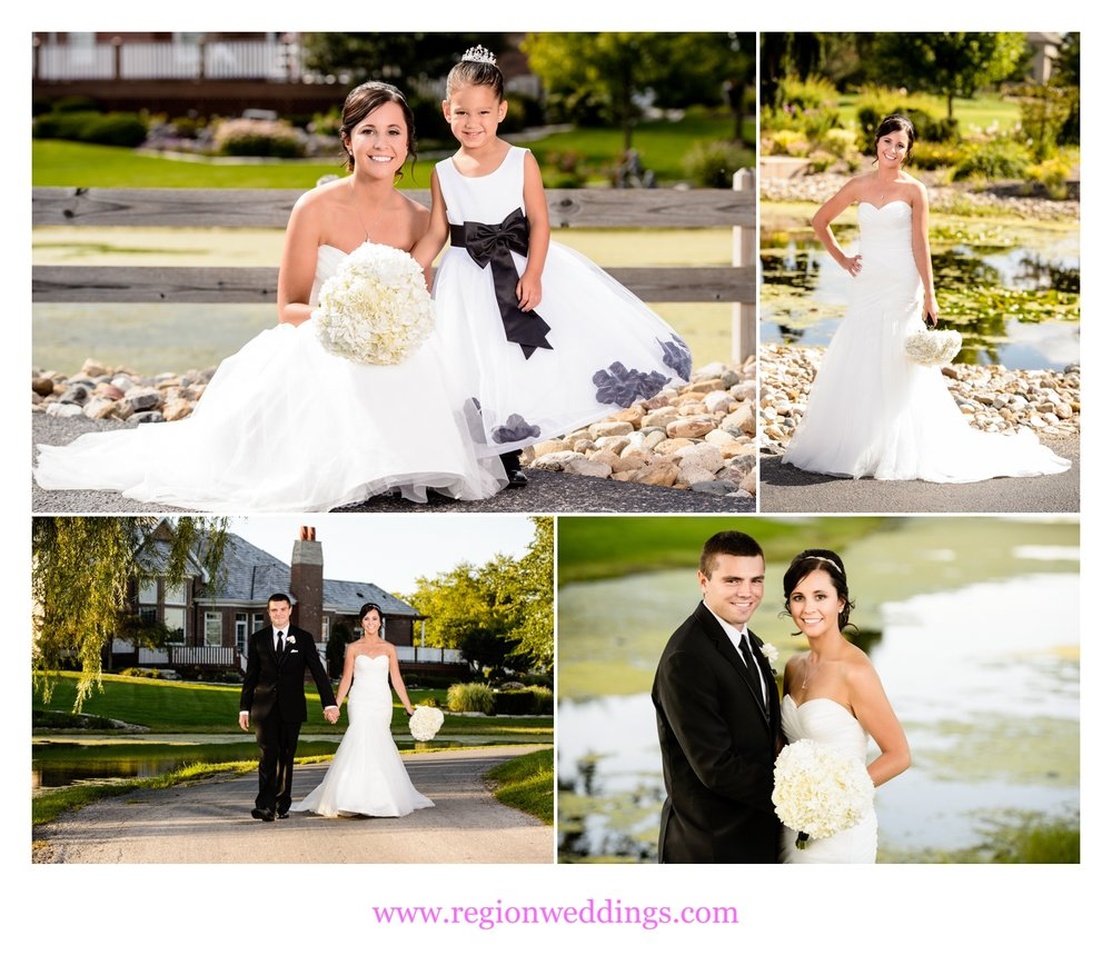 Wedding photos at White Hawk golf course in Crown Point, Indiana.