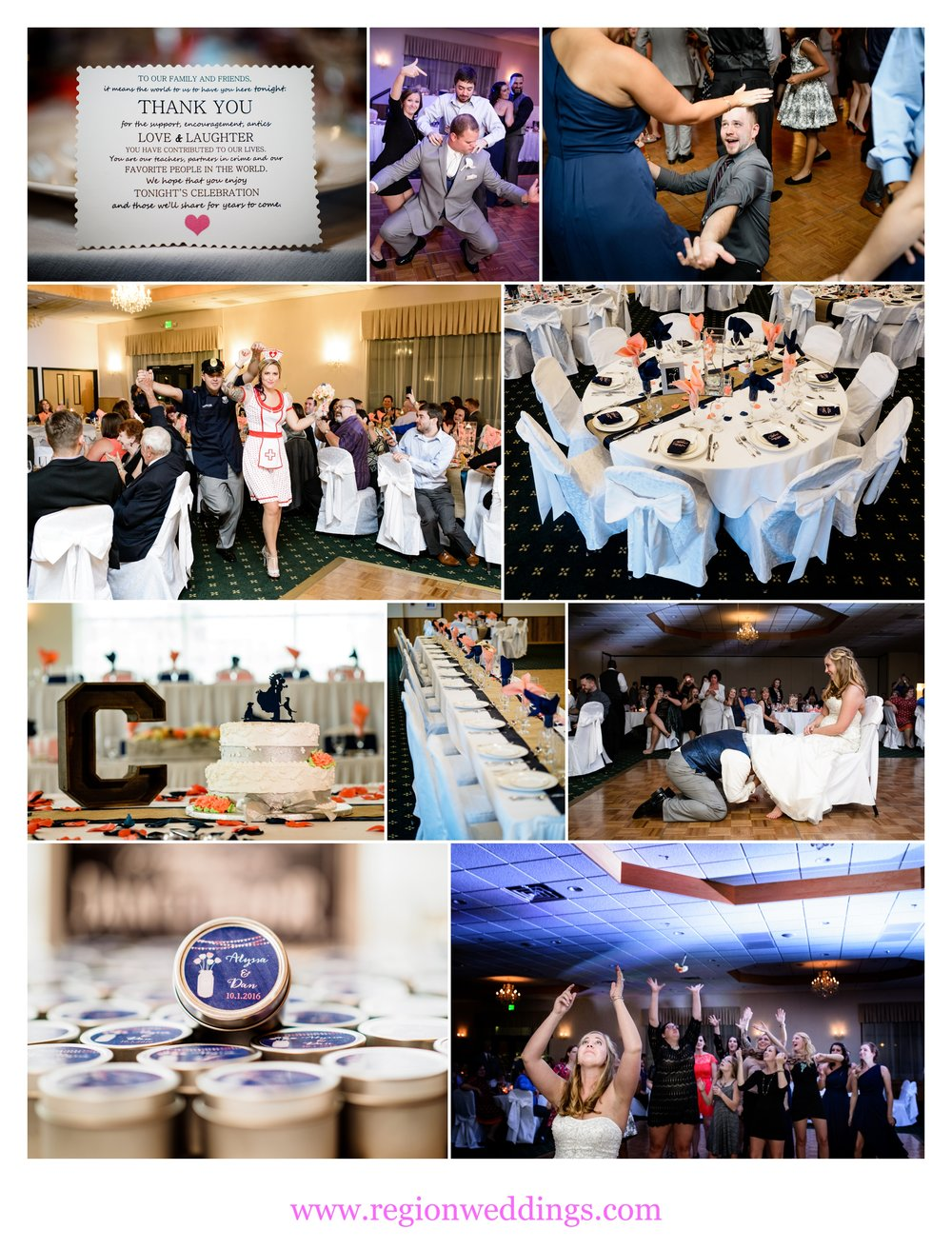 An October wedding reception at The Patrician Banquet Center.
