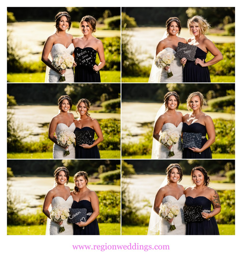 Bridesmaid wedding day signs.