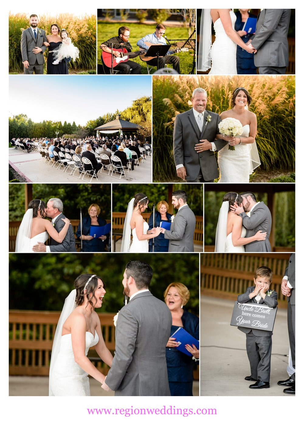 Outdoor wedding ceremony at Avalon Manor.