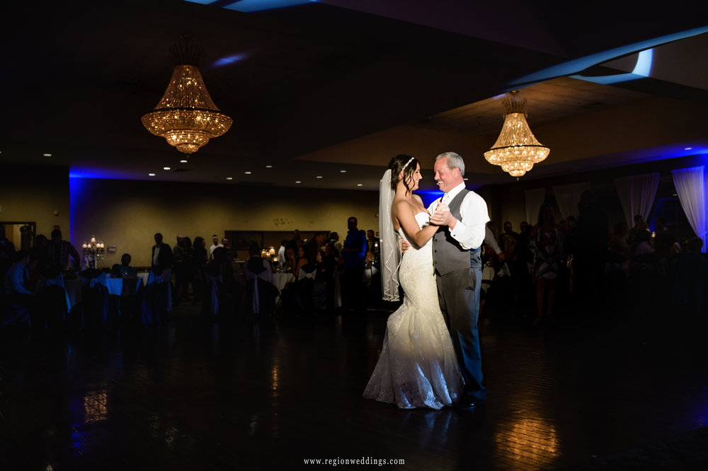 Father and daughter first dance at Avalon manor.