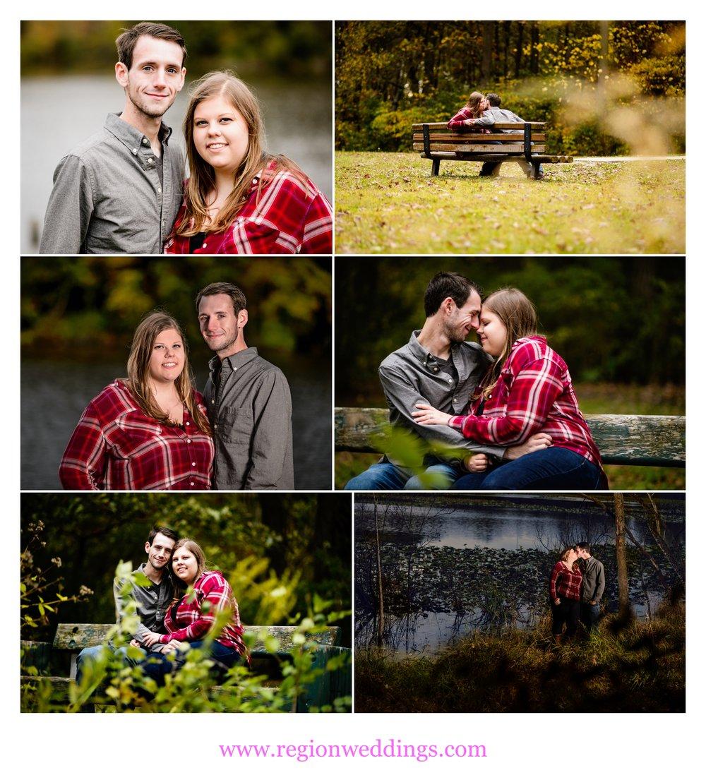 Fall engagement photos at Lemon Lake Park.