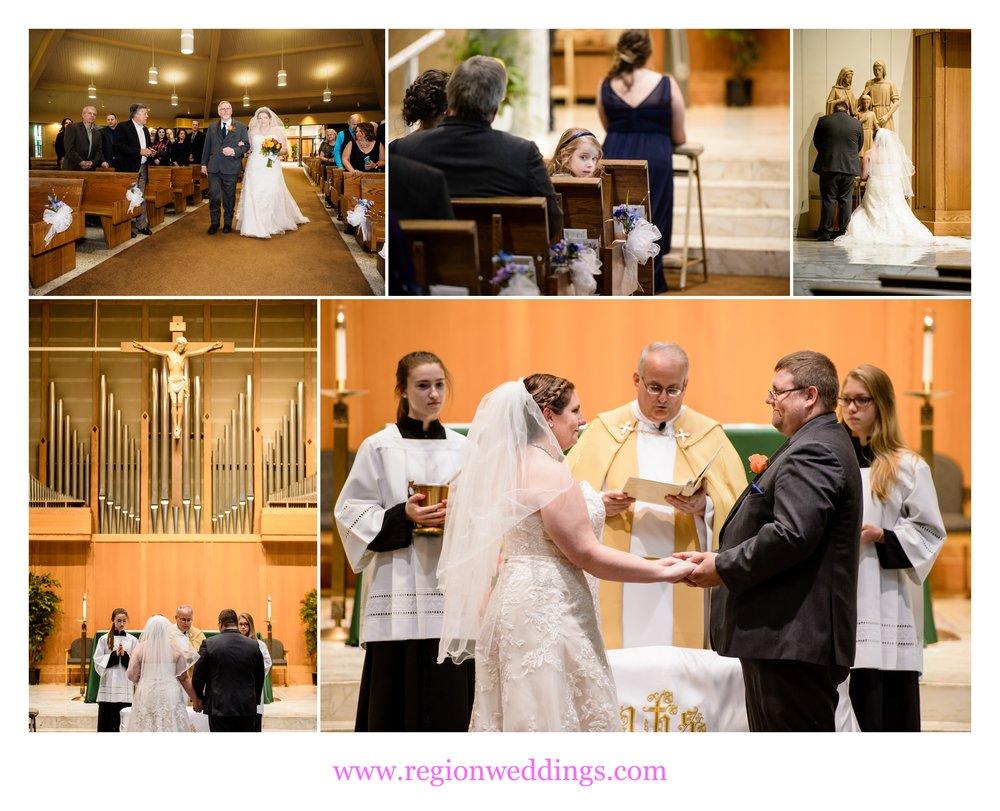 Wedding at St. Thomas More Church.