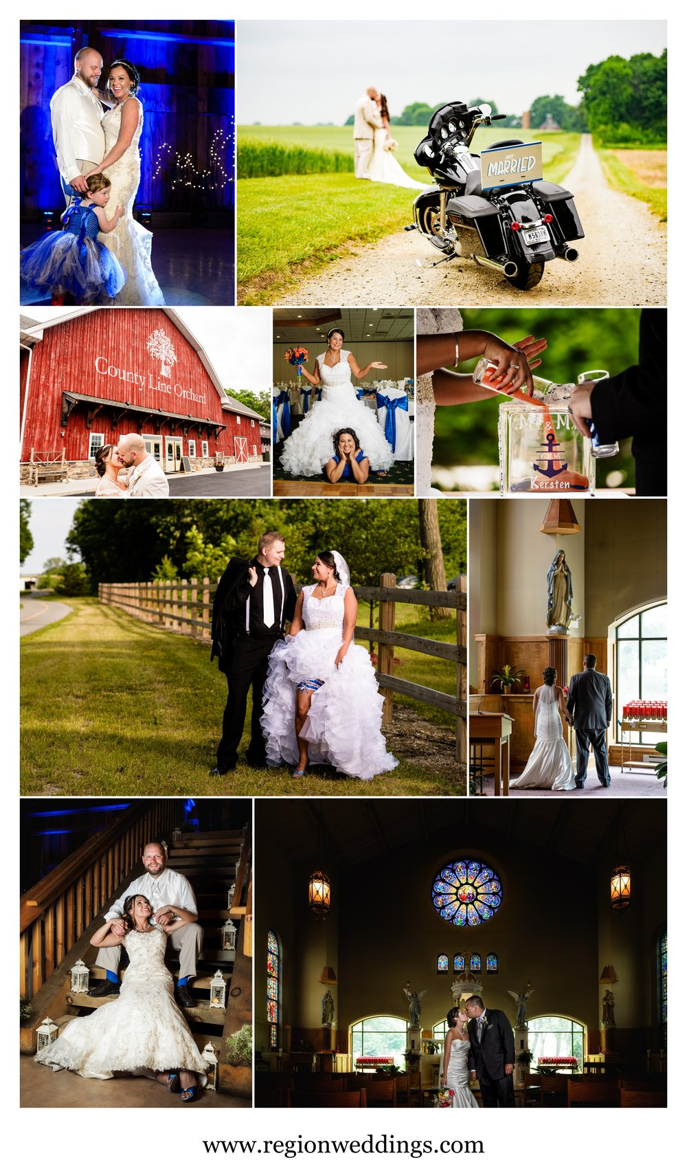 Summer wedding photos in Northwest Indiana in 2016.