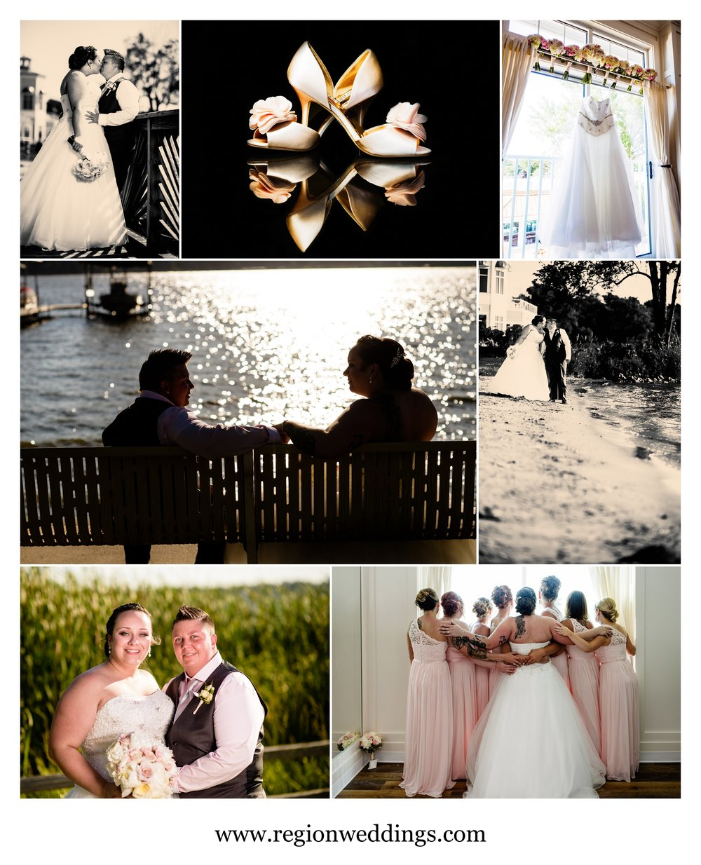 Summer 2016 wedding at Lighthouse Restaurant in Cedar Lake, Indiana.