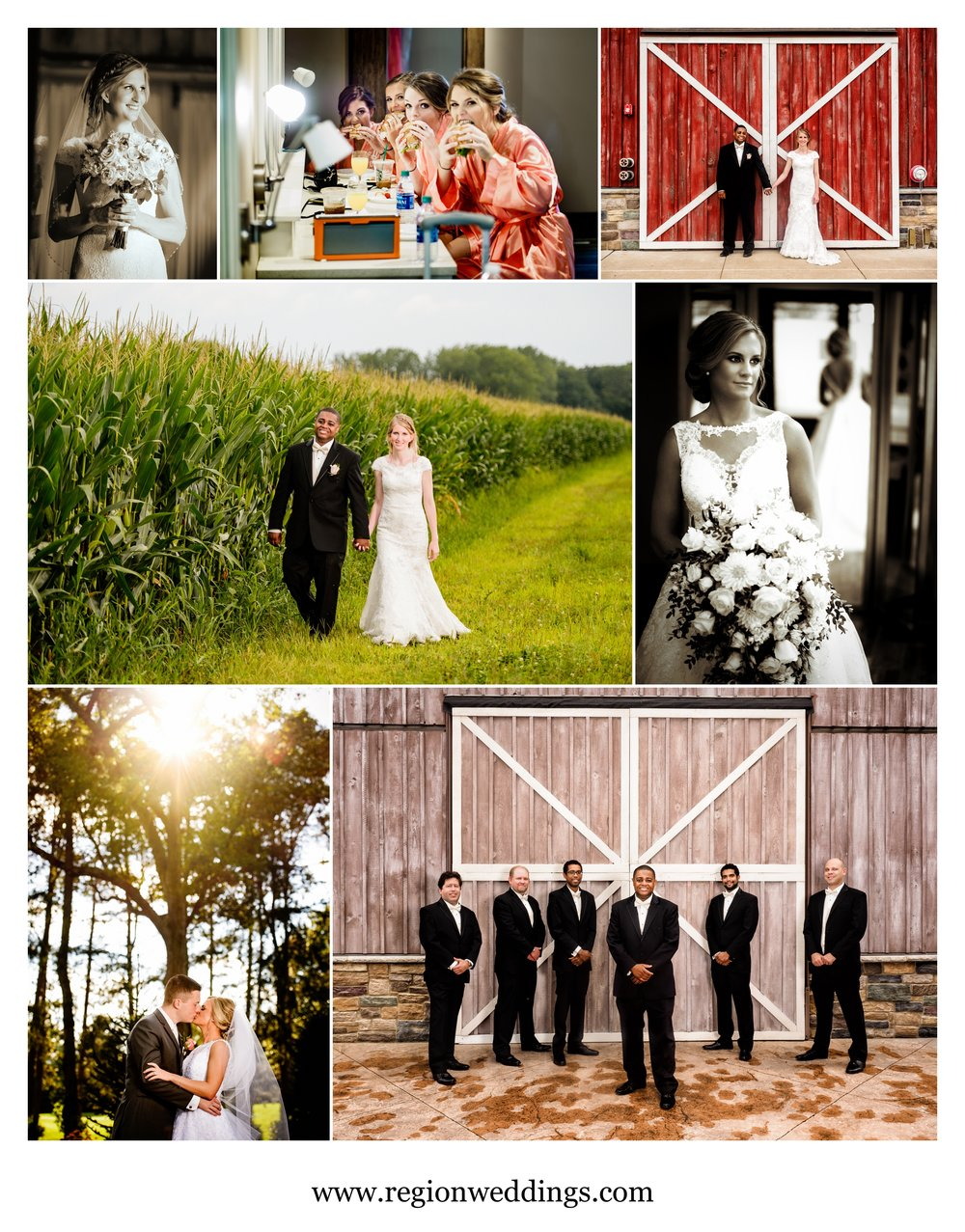 Northwest Indiana wedding photos in August of 2016.