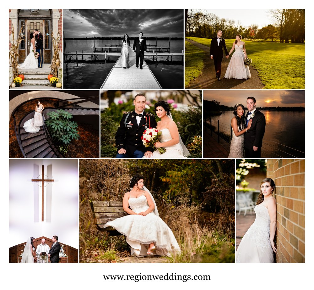 October wedding photos in Northwest Indiana in 2016.
